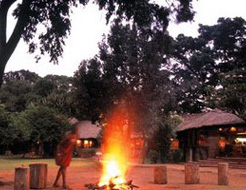 Samburu Village Bon fire.
